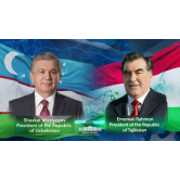 The Leaders of Uzbekistan and Tajikistan exchanged congratulations on Ramadan Hayit and discussed the preparations for the upcoming summit.