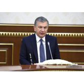 PRESIDENT OF THE REPUBLIC OF UZBEKISTAN RECEIVES THE UNITED STATES DELEGATION