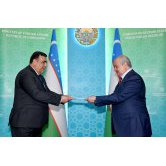 Minister of Foreign Affairs of Uzbekistan receives the newly appointed Ambassador of Tajikistan