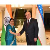 Meeting with the External Affairs Minister of India