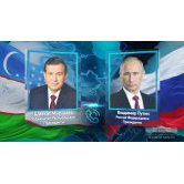 ON TELEPHONE CONVERSATION OF THE PRESIDENT OF UZBEKISTAN WITH THE PRESIDENT OF RUSSIA