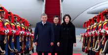PRESIDENT OF UZBEKISTAN SHAVKAT MIRZIYOYEV HAS ARRIVED IN THE REPUBLIC OF KOREA