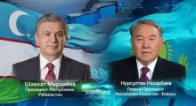 The President of Uzbekistan speaks with the First President of Kazakhstan over the phone