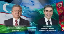 Leaders of Uzbekistan and Turkmenistan talk over the phone