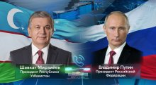 Presidents Shavkat Mirziyoyev and Vladimir Putin speak over the phone