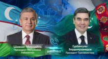 Presidents of Uzbekistan and Turkmenistan discussed the current bilateral agenda and international politics