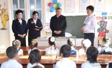 PRESIDENT SHAVKAT MIRZIYOYEV BEGAN HIS TRIP TO KARAKALPAKSTAN WITH A VISIT TO PRESCHOOL EDUCATION INSTITUTION NO. 8 OF CHIMBAY DISTRICT