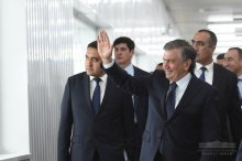 Shavkat Mirziyoyev became familiar with new enterprises of light industry