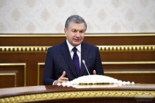 SHAVKAT MIRZIYOYEV RECEIVES THE US SPECIAL REPRESENTATIVE FOR AFGHANISTAN RECONCILIATION