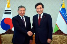 PRESIDENT OF UZBEKISTAN MET WITH THE PRIME MINISTER OF THE REPUBLIC OF KOREA