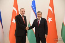 Meeting of the Presidents of Uzbekistan and Turkey in a narrow format has started