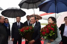President of the Republic of Korea arrives in Samarkand