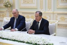 Uzbekistan's President receives the Russian Foreign Minister