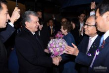 President of Uzbekistan arrives in Japan