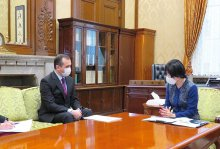 Meeting with the President of the House of Councillors of Japan's Parliament
