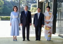 President of Uzbekistan meets with the Emperor of Japan