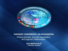 SESSIONS AT THE PRESS CENTER OF TASHKENT CONFERENCE ON AFGHANISTAN ARE CONTINUING