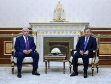 PRESIDENT OF UZBEKISTAN RECEIVED THE GOVERNOR OF ST. PETERSBURG