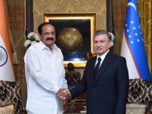 President of Uzbekistan receives Vice President of India